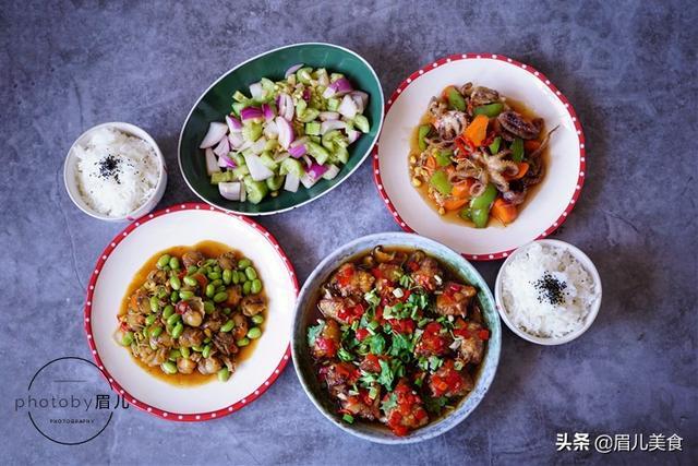天热也要好好吃饭,晚餐做了4道菜,营养快手,夫妻两人都吃撑了